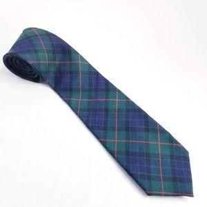 Jack Spade Tartan Necktie Handmade USA Wool